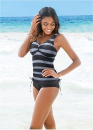 Bygeltankini (2 delar), bpc bonprix collection, svart, randig
