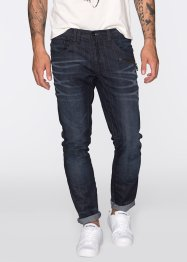 Jeans, normal passform, avsmalnande ben, RAINBOW, dark blue used
