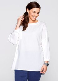 Blus med dragkedja bak, bpc bonprix collection, ullvit