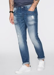 Jeans, normal passform, avsmalnande ben, RAINBOW, blue stone used