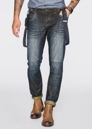 Jeans, normal passform, avsmalnande ben, RAINBOW, dirty denim