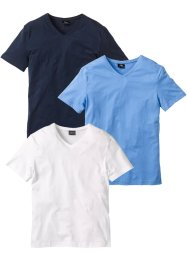 V-ringad T-shirt (3-pack), bpc bonprix collection