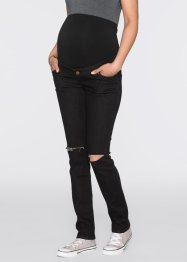 Mammajeans, smala ben, used look, bpc bonprix collection, black denim