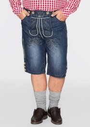 Folkdräktsinspirerade jeansshorts, normal passform, bpc selection, blue stone
