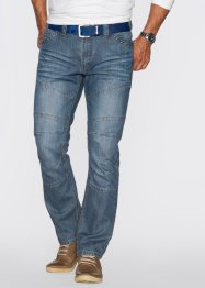Jeans Regular Fit, John Baner JEANSWEAR, medium blue bleached dirty