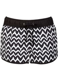 Strandshorts, bpc bonprix collection, svart/vit