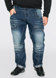 Jeans, normal passform, rakt ben, RAINBOW, darkblue stone used