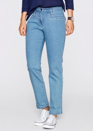 Figurformande stretchjeans, ankellånga, bpc bonprix collection, medium blue bleached