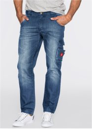 Jeans, Dirty Used, normal passform, John Baner JEANSWEAR, blå