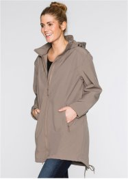 Parkas i softshell, bpc bonprix collection, gråbrun