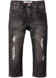 Jeans i sliten look, John Baner JEANSWEAR, antracit denim used