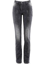 Stretchjeans med mönster, bpc selection, grey denim, mönstrad
