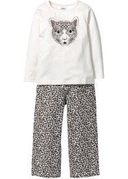 Pyjamas (2-delat set), bpc bonprix collection, ullvit/svart