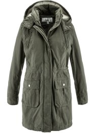 Parkas, bpc bonprix collection, mörk olivgrön