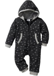 Baby sweatoverall i ekologisk bomull, bpc bonprix collection, antracitmelerad