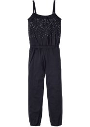 Jumpsuit med nitar, bpc bonprix collection, svart