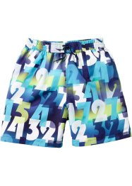 Badshorts, bpc bonprix collection, mörkblå, mönstrad
