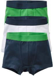 Boxershorts (3-pack), bpc bonprix collection, mörkblå/grön/vit