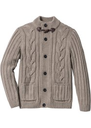 Cardigan med flätstickning, normal passform, bpc bonprix collection