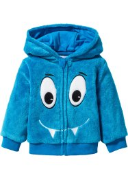 Babyjacka i teddyfleece, bpc bonprix collection, azurblå