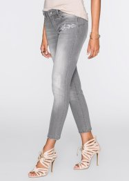 MUST-HAVE: Broderade jeans, BODYFLIRT, light grey denim