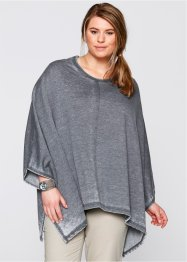 Sweatponcho, used look, bpc bonprix collection, gråblå, used
