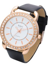 Armbandsur med krokodilarmband, bpc bonprix collection
