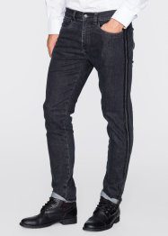 5-ficksjeans i stretch, smal passform, rakt ben, RAINBOW, antracit denim