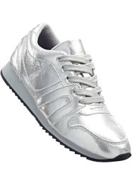 Sneakers, bpc bonprix collection, silverfärgad, glitter