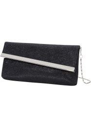 Clutch med snett lock, bpc bonprix collection, svart