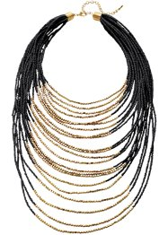 Halsband, bpc bonprix collection, svart/guldfärgad