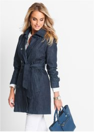 Trenchcoat i jeansdesign, bpc selection, dark blue stone