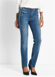 Stretchjeans med broderi, bpc selection, blue stone