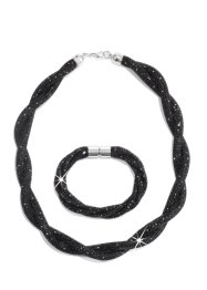 Set med halsband + armband, bpc bonprix collection, svart