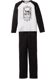 Pyjamas (2-delat set), bpc bonprix collection, svart/vit