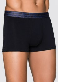 Boxershorts (3-pack), bpc bonprix collection, azurblå/svart