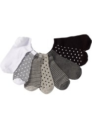 Ankelsocka (8-pack), bpc bonprix collection, randig/prickig