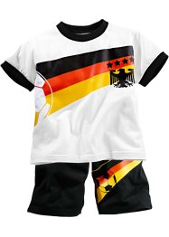 EM-T-shirt + shorts, bpc bonprix collection, vit/Tyskland