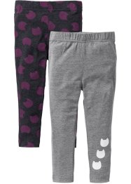 Leggings (2-pack), bpc bonprix collection, antracitmelerad+gråmelerad