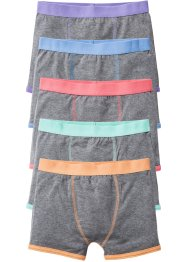 Boxershorts (5-pack), bpc bonprix collection, gråmelerad/pastell