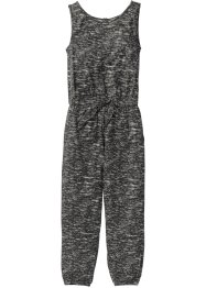 Jumpsuit, bpc bonprix collection, svart/grå, mönstrad