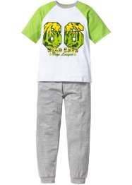 Pyjamas (2-delat set), bpc bonprix collection, grön/vit