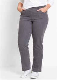 Stretchbyxa (2-pack), bpc bonprix collection, grey denim + svart