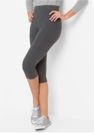 Caprileggings med stretch 2-pack, bpc bonprix collection, antracitmelerad+svart