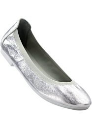 Ballerinasko, bpc bonprix collection, ljusgrå, metallic