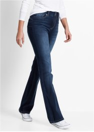 Push up-jeans, bootcutmodell, bpc bonprix collection, dark denim