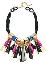 "Halsband ""Colour Flash"", bpc bonprix collection, svart/azurblå/fuchsia"