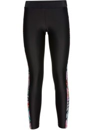 Badleggings, bpc bonprix collection, svart, mönstrad