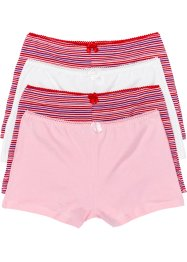 Maxiboxertrosa (4-pack), bpc bonprix collection, rosa/ullvit/röd, randig