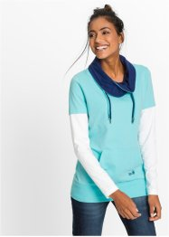 Top, 2-i-1, bpc bonprix collection, aqua